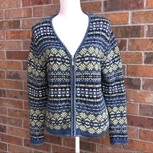 Christopher & Banks Hand Embroidered Sweater- Med